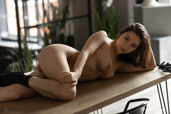'Lovely Brunette' with Lori Q via StasyQ - 11