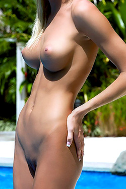 Sexy Blonde Eliza Carson Nude Island Girl on the Beach for Playboy TV